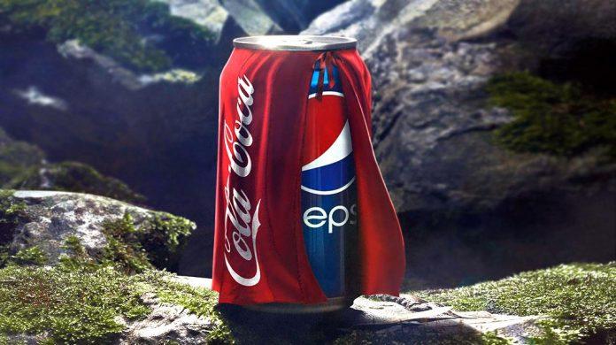 imagen de anuncio publicitario coca vs pepsi